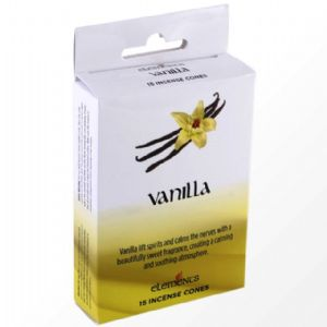 Vanilla Scented Incense Cones Elements Indian - Box Of 15